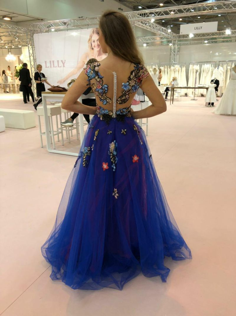 Dlhé luxusné spoločenské šaty 2018 - 2019 Adelise