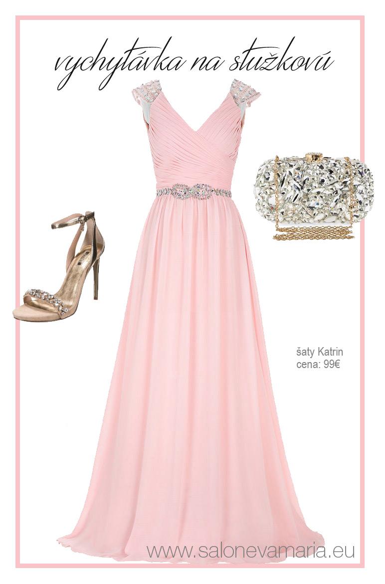 najkrajšie ružové šaty na stužkovú