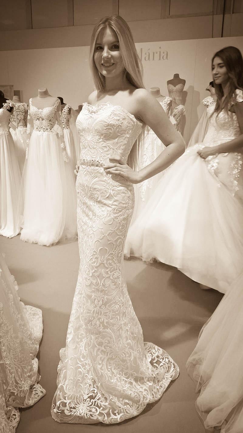 Úzke čipkované svadobné šaty Katrin - Hadassa