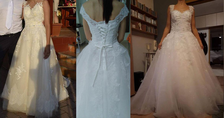 Nekvalitné svadobné šaty z aliexpressu.