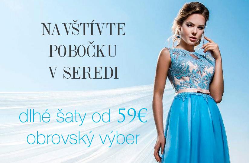lacné spoločenské šaty - spoločenský salón v Seredi