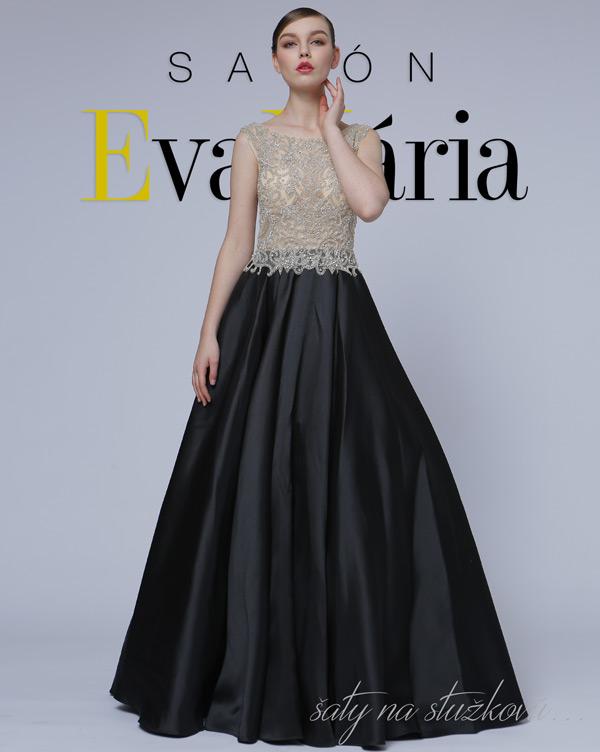 luxusné šaty na stužkovú s kamienkami