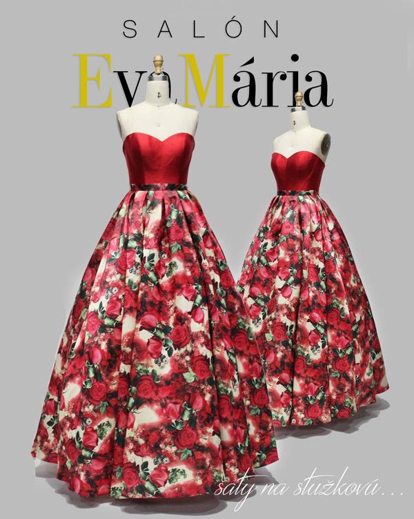 šaty na stužkovú 2017 - kvetované