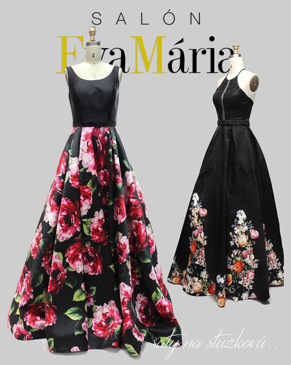 šaty na stužkovú s kvetmi 2017