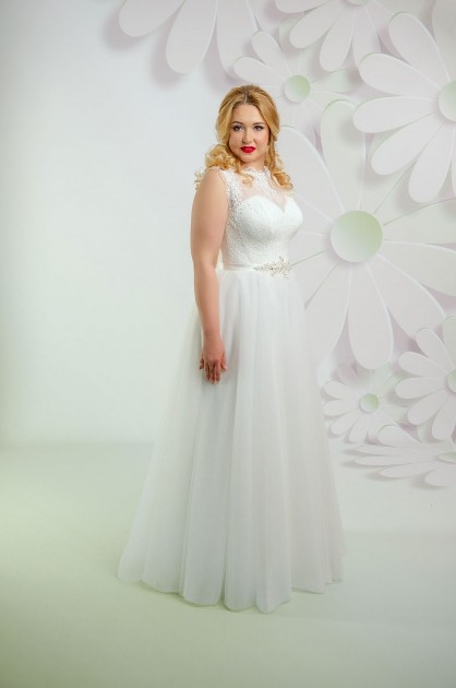 Svadobné šaty s princeznovskou sukňou pre moletku