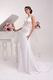 Svadobné šaty rovného strihu