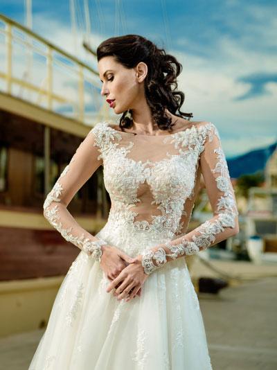 Nude tyl svadobné šaty - trendy svadobných šiat 2018