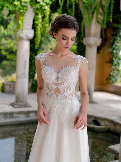 Svadobné šaty 2018 - trendy s telovým tylom