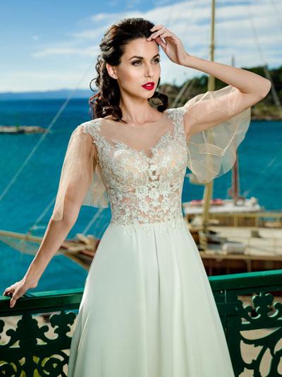 Svadobné šaty s telovým tylom / podkladom trendy 2018