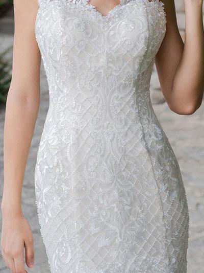 Trblietky na svadobných šatách - svadobné šaty s korálkami