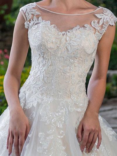 Žiarivé svadobné šaty 2018