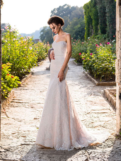 Ružové svadobné šaty  trend 2018