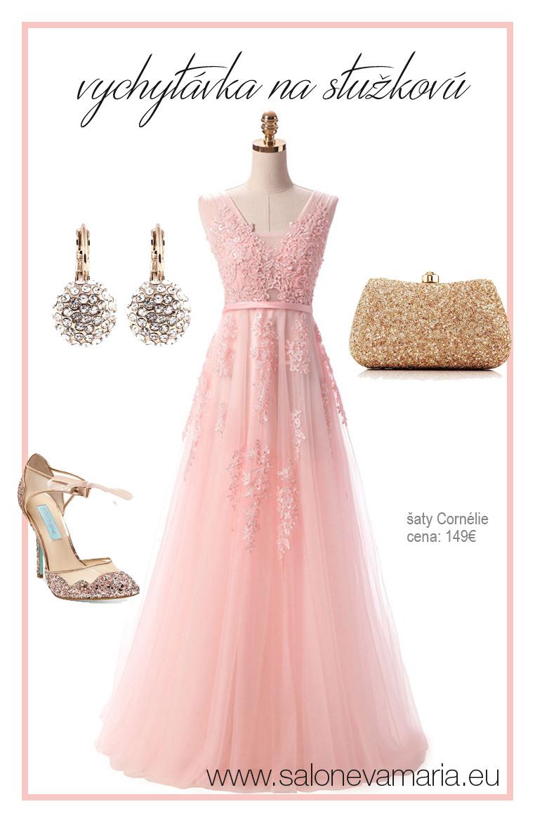 ružové princeznovské šaty na stužkovú