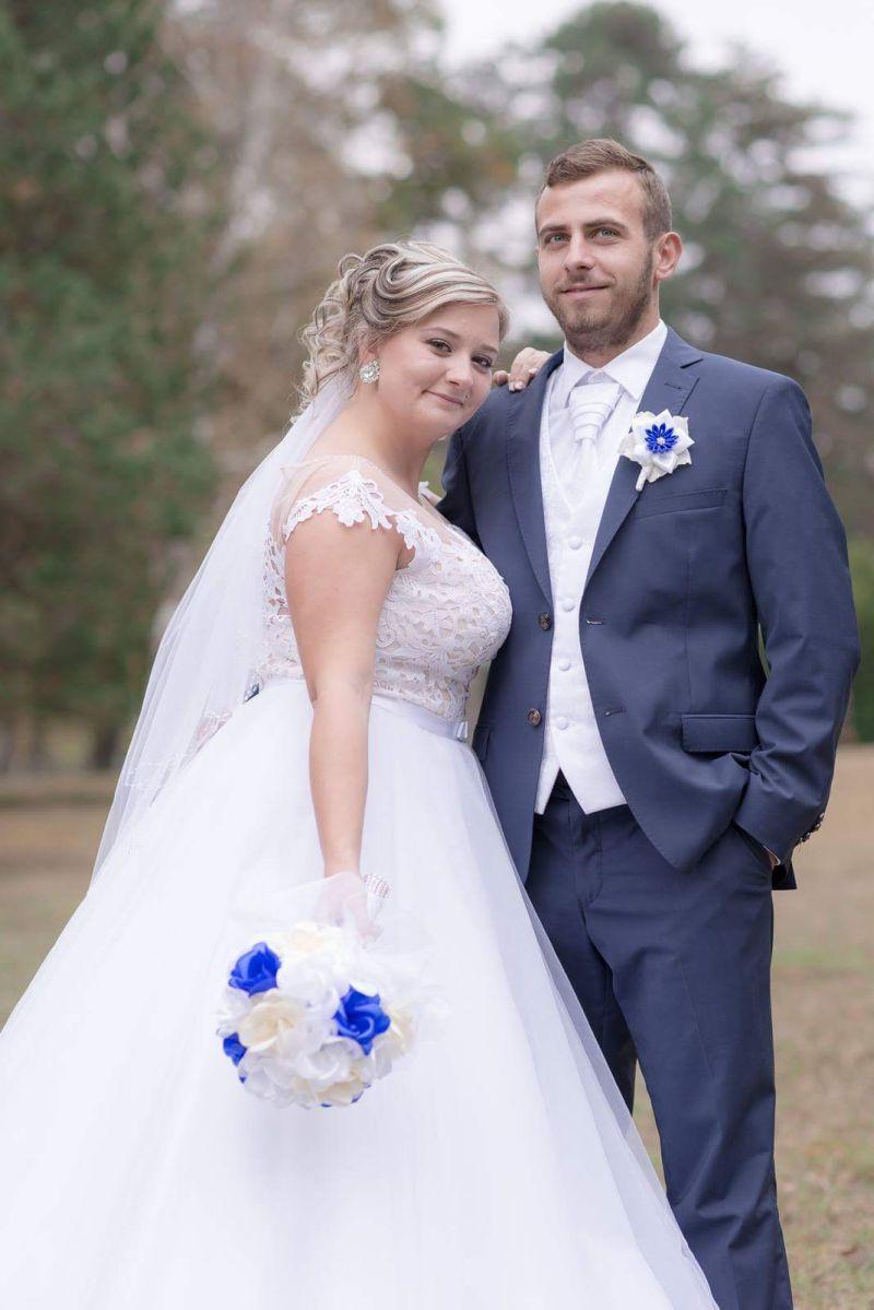 Spokojná nevesta vo svadobných šatách Randi z prestížneho svadobného salónu EvaMária Sereď