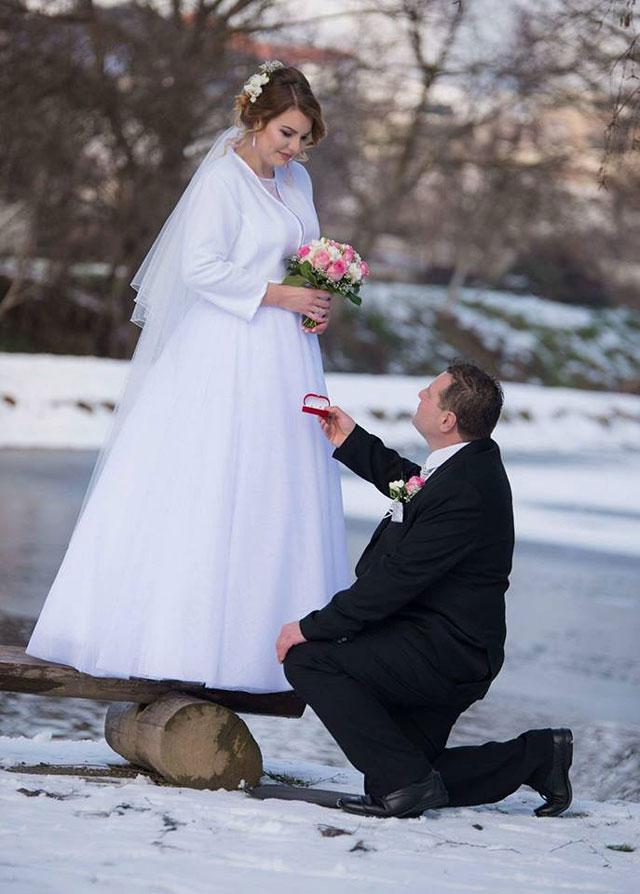 Nádherná nevesta v šatách Ermanno zo svadobného centra EvaMária Sereď