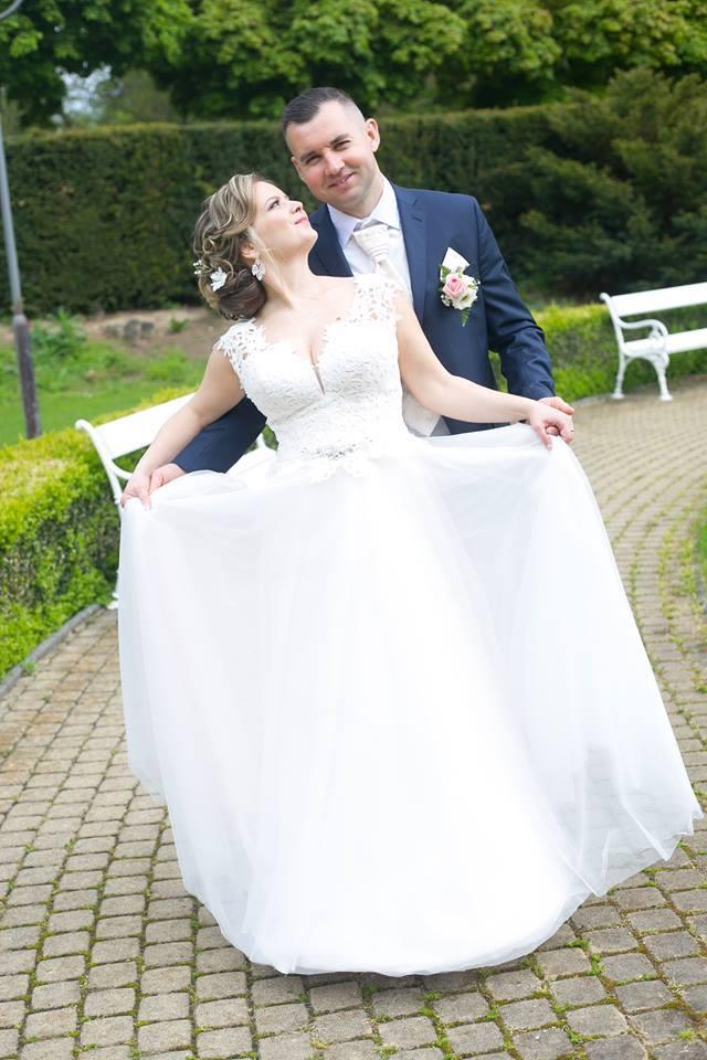 Alenka vo svadobných šatách zo Salónu EvaMária