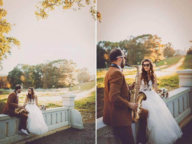 Nádherná nevesta vo svadobných šatách šitých na mieru v Salóne EvaMária