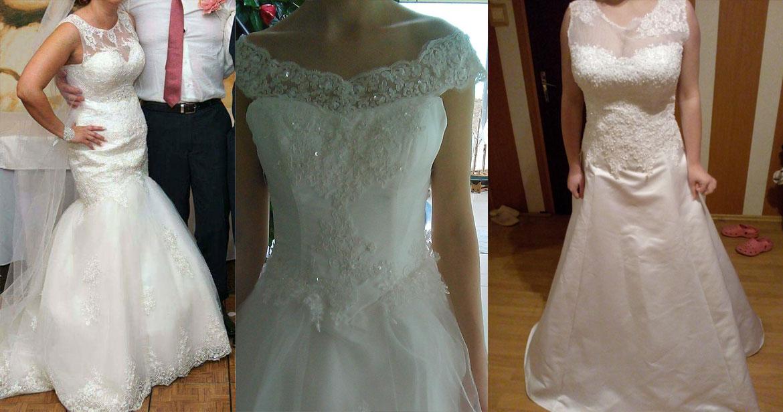 Svadobné šaty, ktoré nesedia