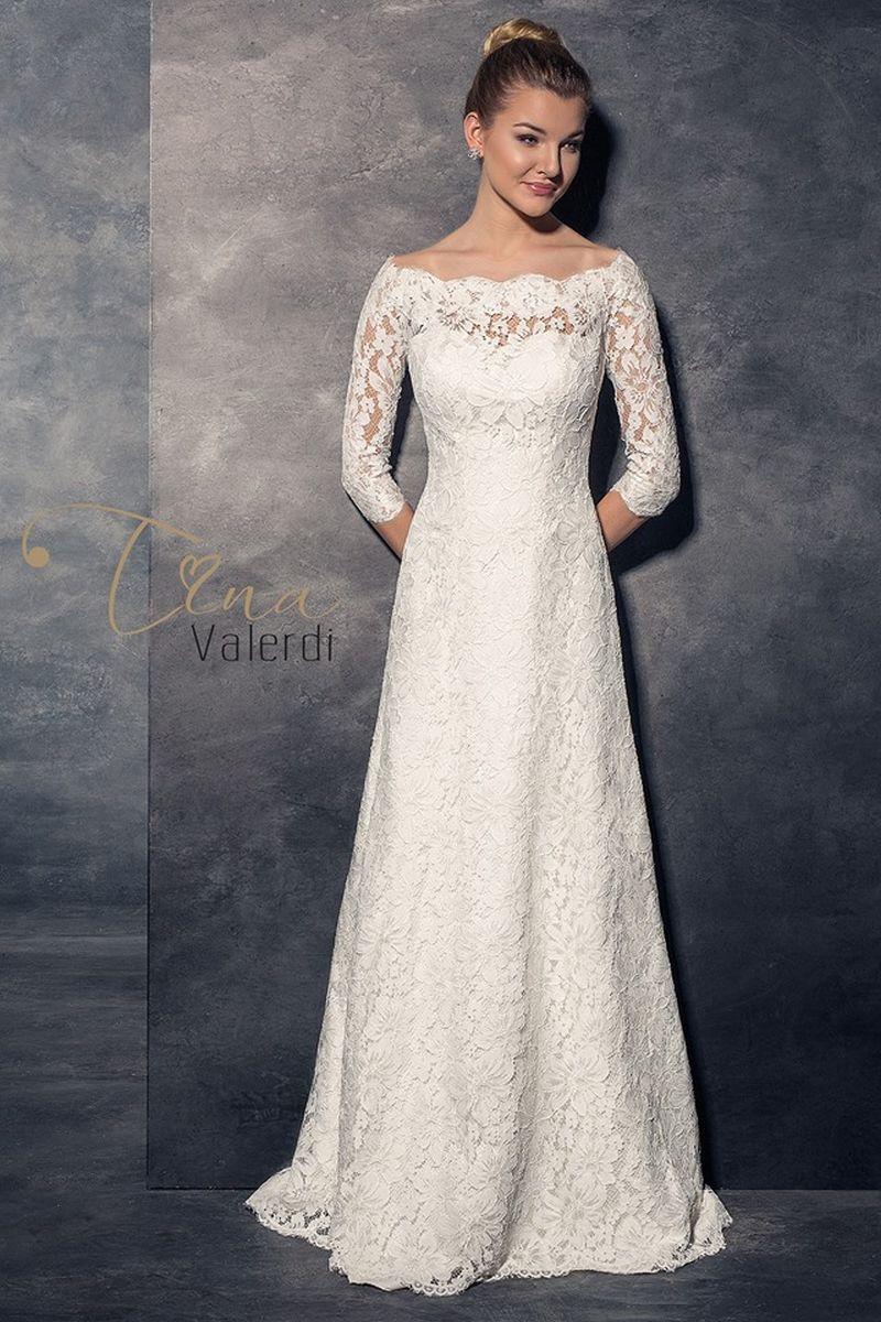 Najkrajšie svadobné šaty z čipky s rukávmi