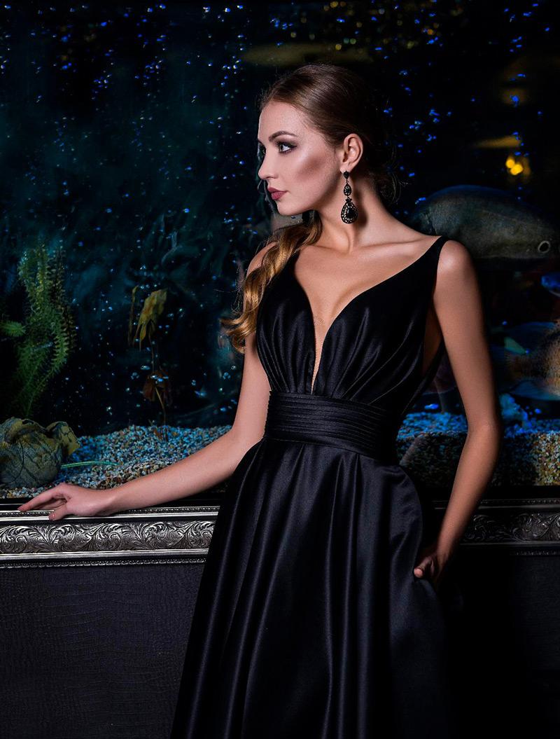 Čierne šaty na stužkovú