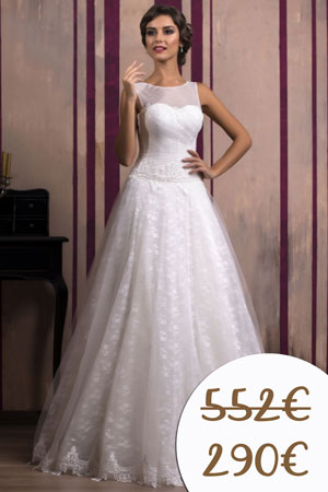 Lacné svadobné šaty