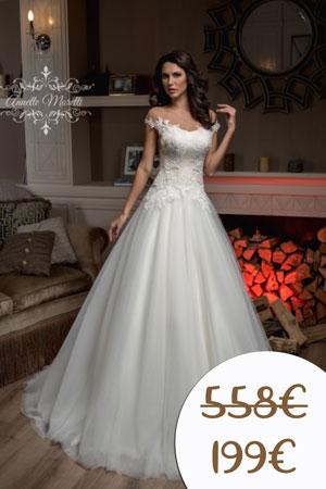 Lacné nové princeznovské svadobné šaty