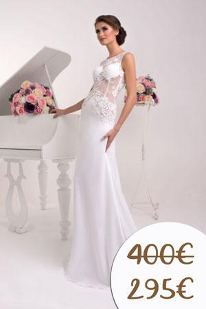 úzke svadobné šaty