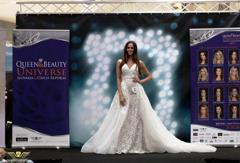 Víťazska Queen beauty Universe v šatách zo Salónu EvaMária