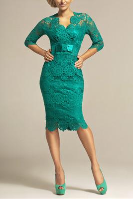 zelené šaty pre svadobnú mamu
