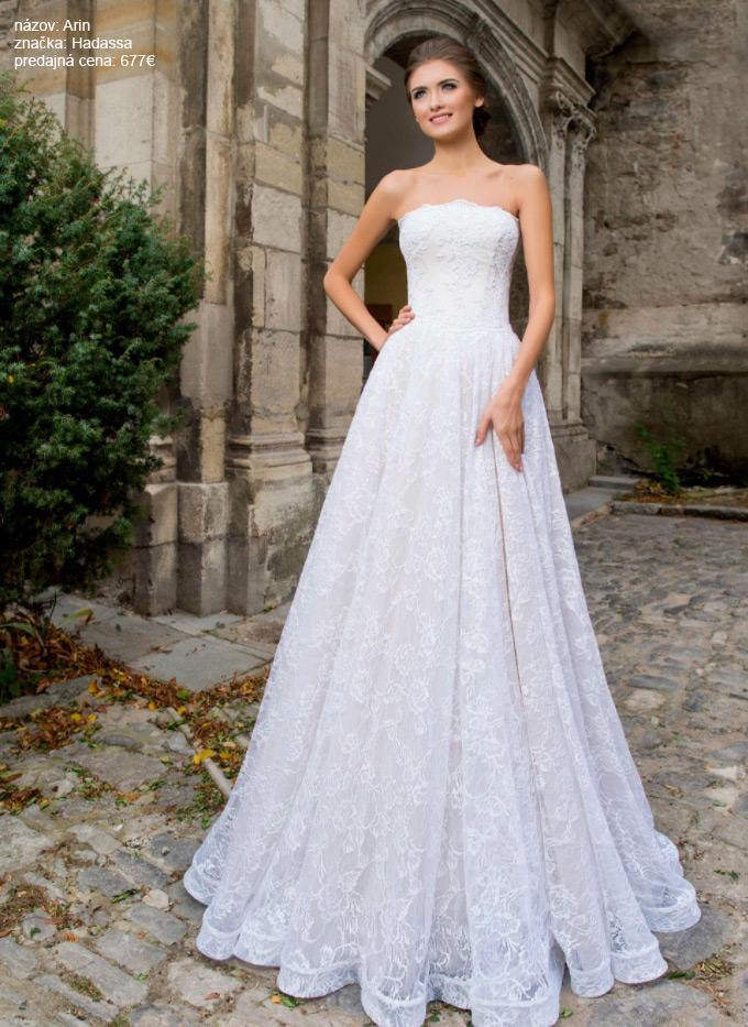 Najkrajšie čipkoavné svadobné šaty
