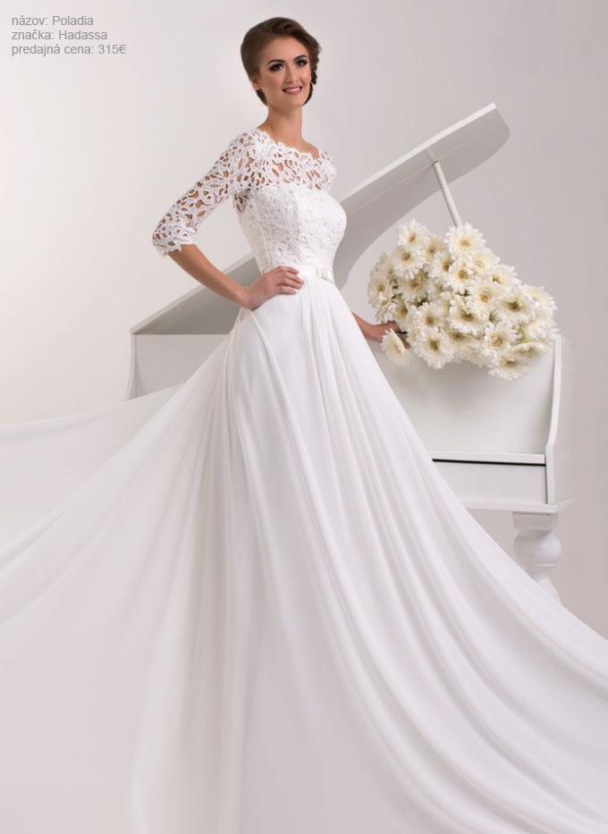 Najkrajšie svadobné šaty s padavou sukňou