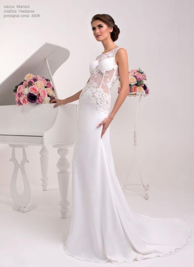 Najkrajšie priliehavé svadobné šaty