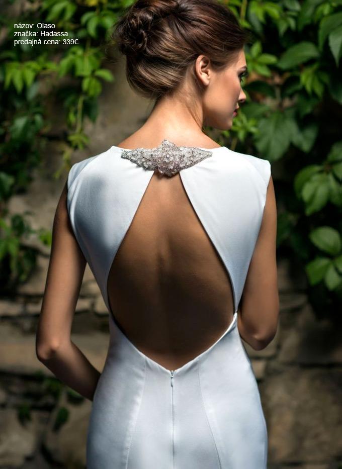 Najkrajšie svadobné šaty s holým chrbtom