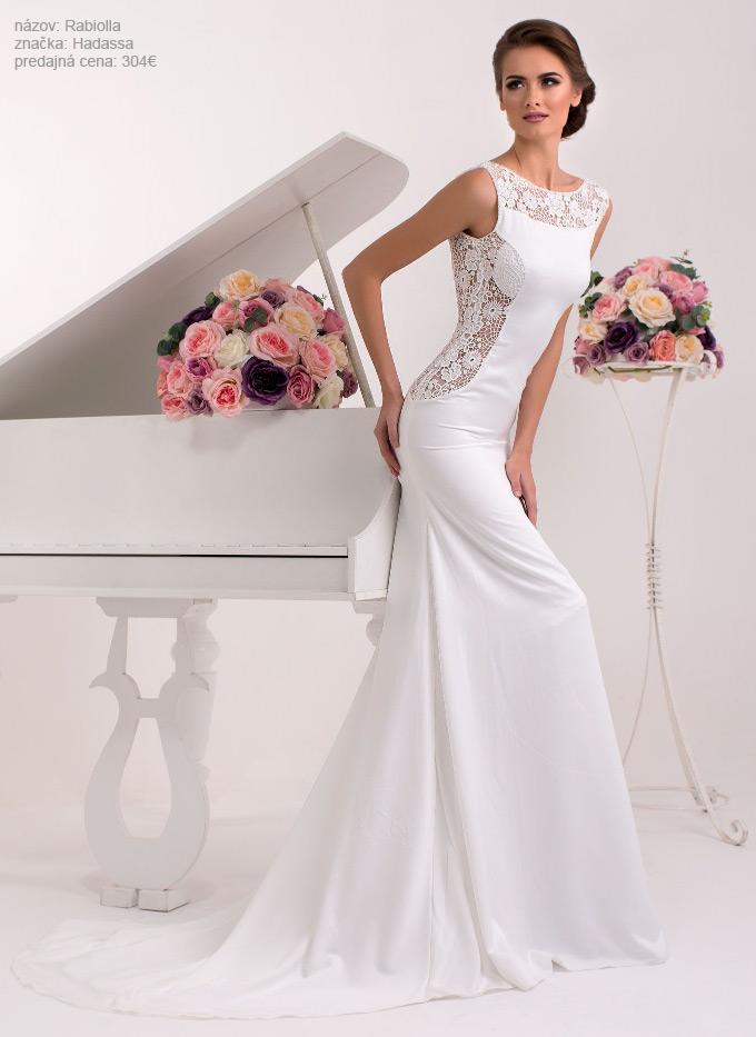 Najkrajšie úzke svadobné šaty