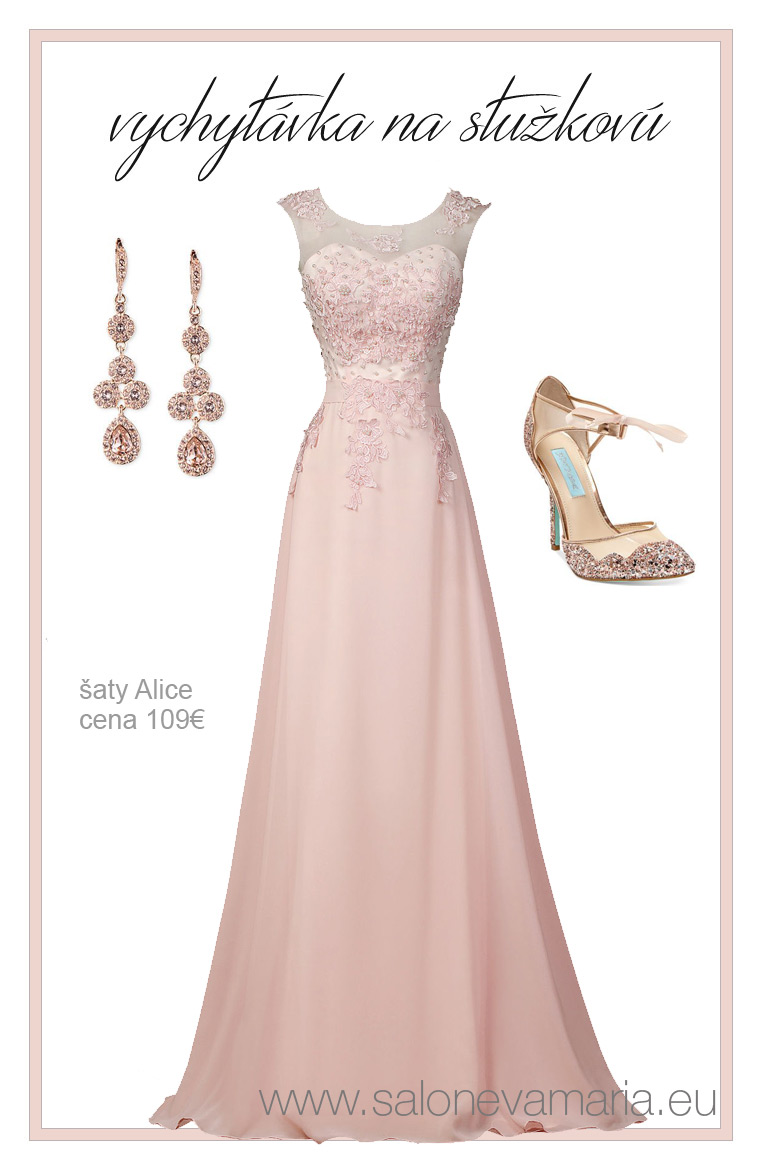 Ružové rozprávkové šaty so šifónovou sukňou zdobené perlami na stužkovú