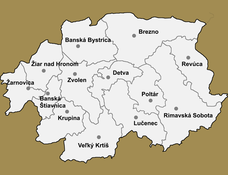 Svadobné priestory -  Banskobystrický kraj