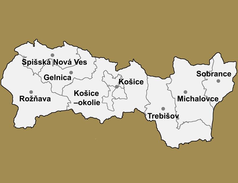 Svadobné priestory -  Košický kraj