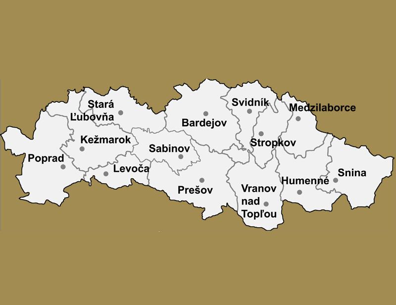 Svadobné priestory -  Prešovský kraj