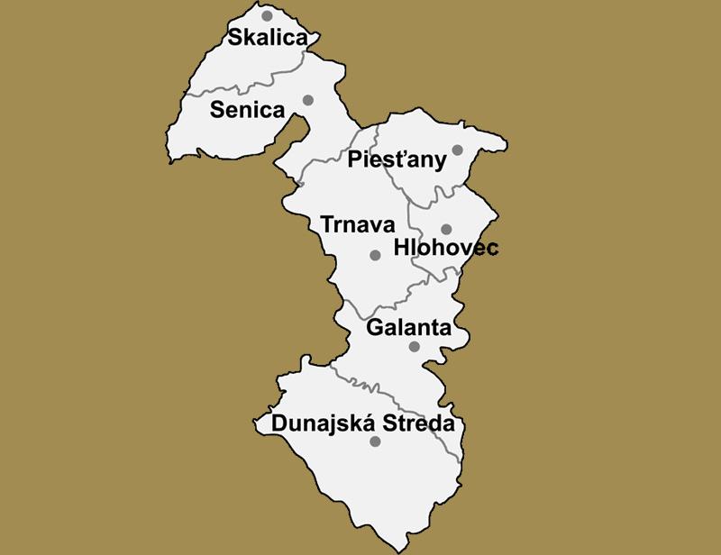 Svadobné priestory - Trnavský kraj