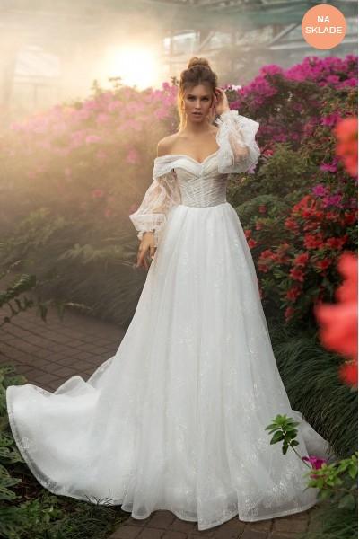 Rozprávkové svadobné šaty pre modernú nevestu.