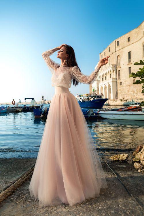 Svadobné šaty s balónovými rukávmi 2019