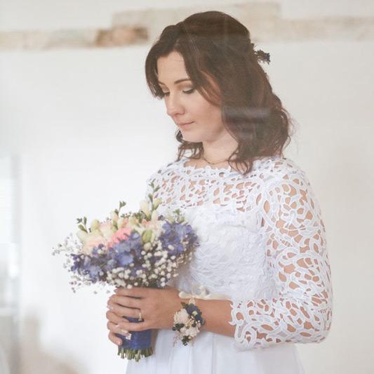 Spokojná Nevesta Lenka zo salónu EvaMária Sereď