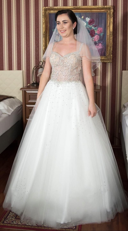 Nádherná nevesta v šatách zo svadobného centra EvaMária Sereď