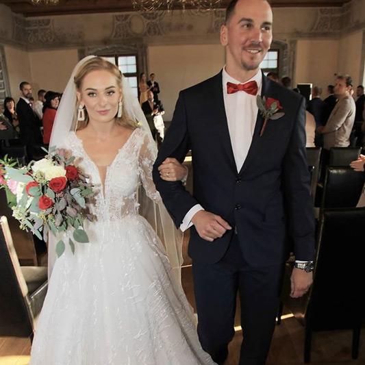 Spokojná Nevesta Kristínka a jej ženích zo salónu EvaMária Sereď