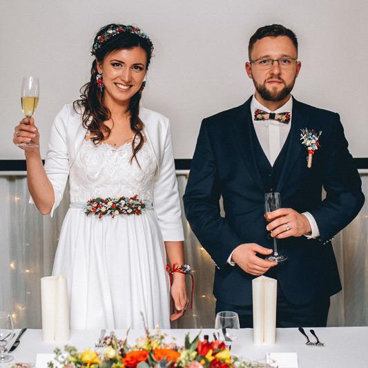 Spokojná Nevesta Mária zo svadobného salónu EvaMária Sereď