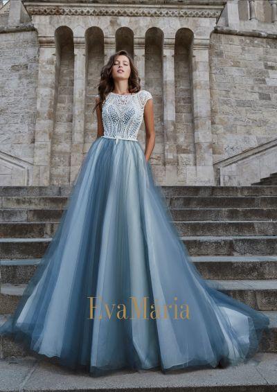 Šaty na ples s čipkovým vrchom nadýchanou veľkou tylovou sukňou