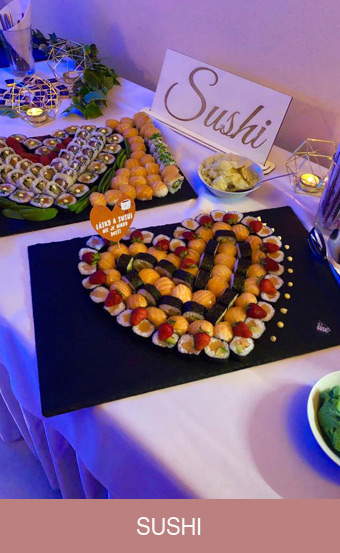 sushi na svadbu sereď