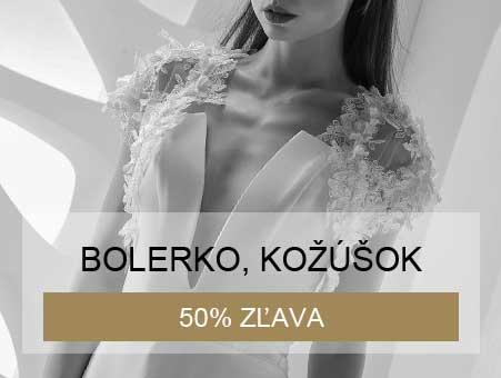 50% zľava na bolerko a kožúšok pri kúpe svadobných šiat