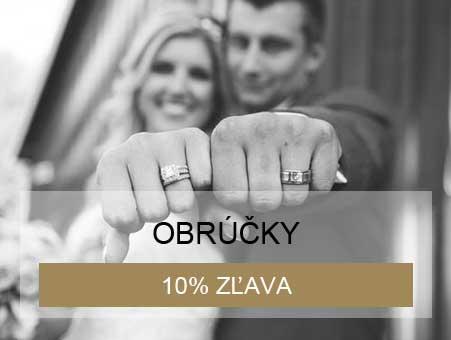 10% zľava na svadobné obrúčky pri kúpe svadobných šiat a obleku