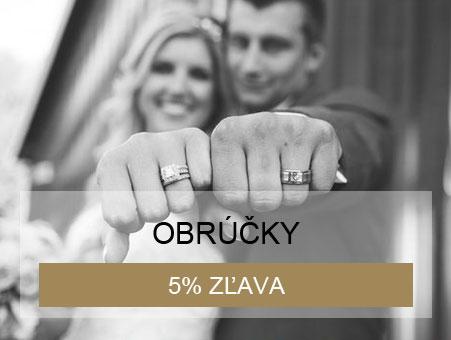 5% zľava na obrúčky pri kúpe zásnubného prsteňa